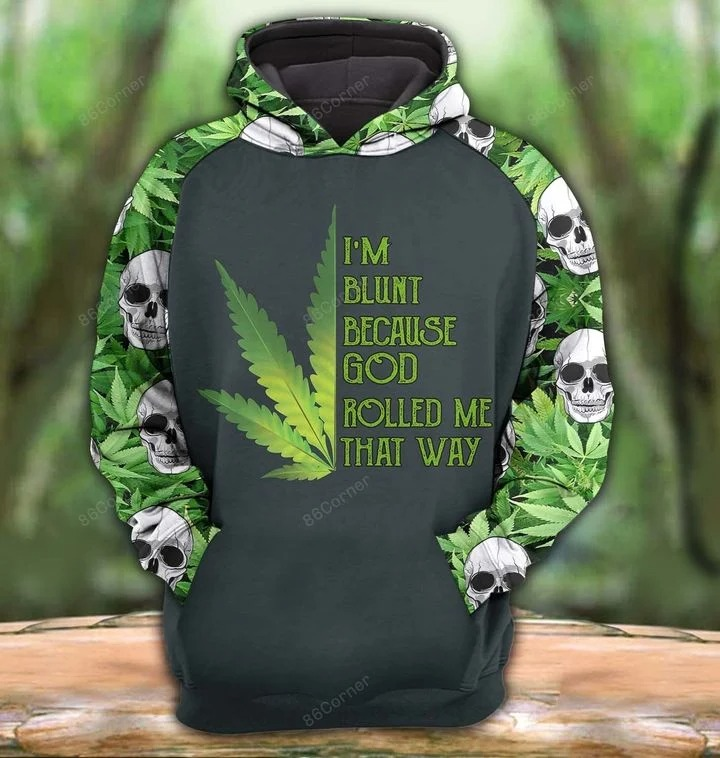 Skull Im blunt because god rolled me that way 3D hoodie and legging2