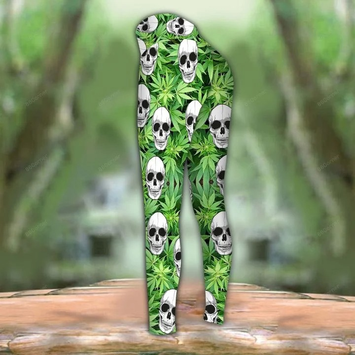 Skull Im blunt because god rolled me that way 3D hoodie and legging3