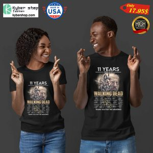 11 years 2010 2021 The walking dead thank you for the memories Shirt3