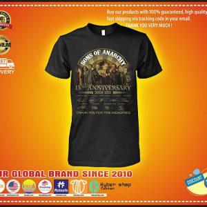 13th Anniversary 2008 2021 sons lovers anarchy fan tshirt 3