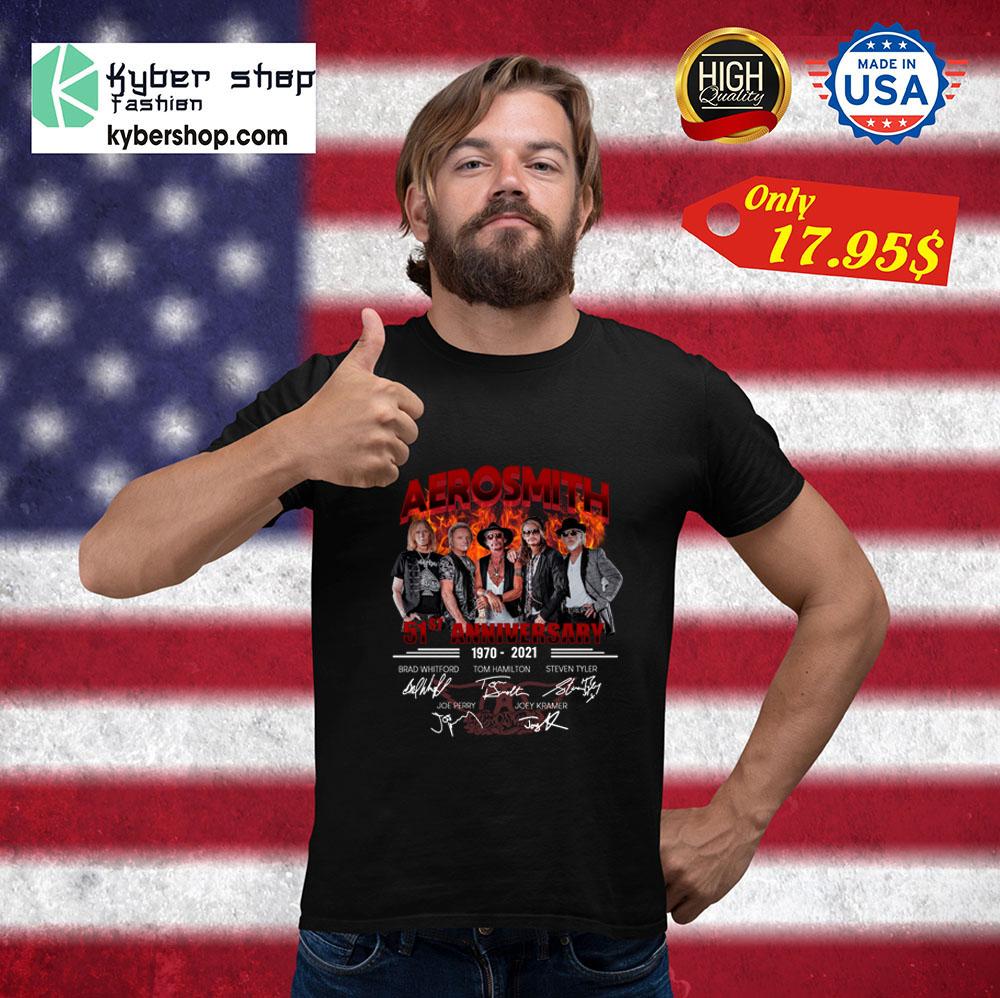 Aerosmith 51st Anniversary1970 2021 Shirt1