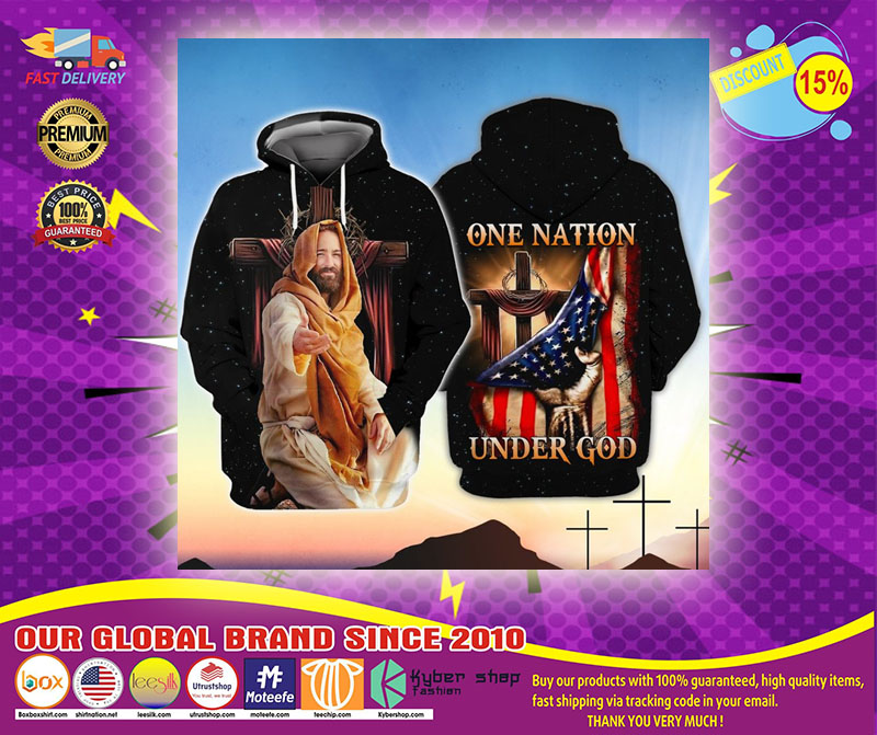 American One nation under god 3D hoodie1