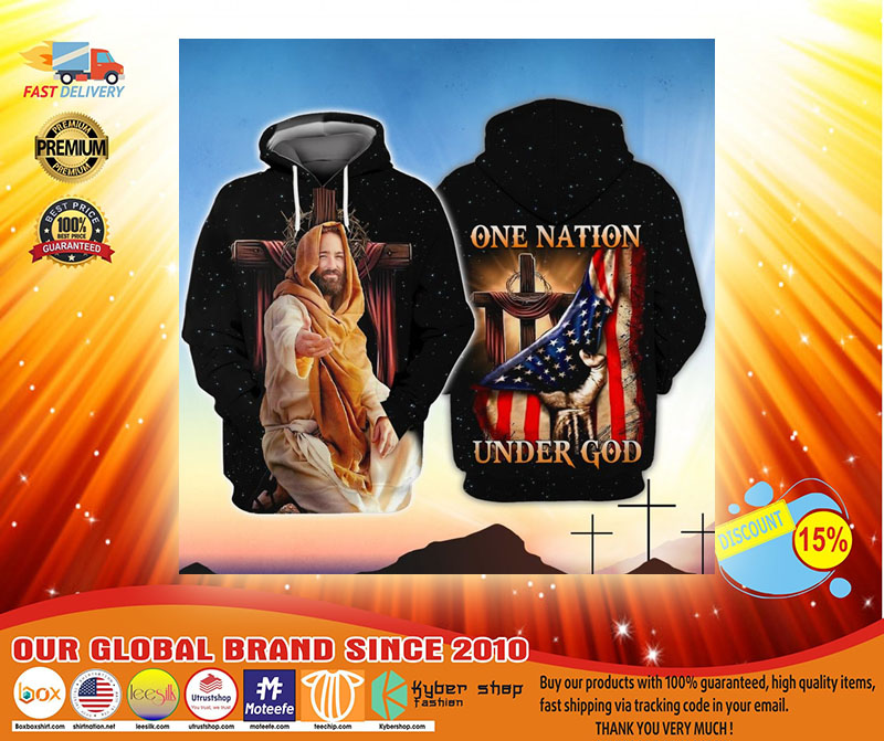 American One nation under god 3D hoodie3