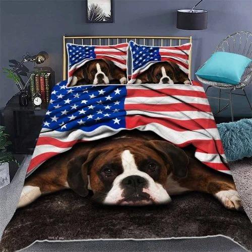 American flag Boxer patriot bedding set2