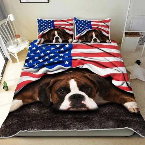 American flag Boxer patriot bedding set3