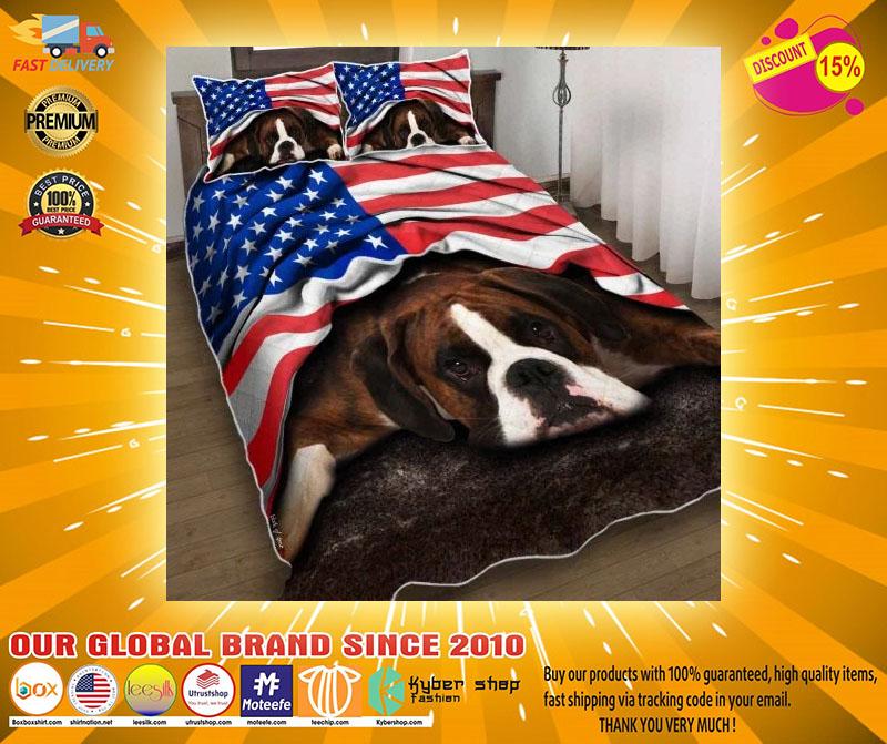 American flag Boxer patriot bedding set4