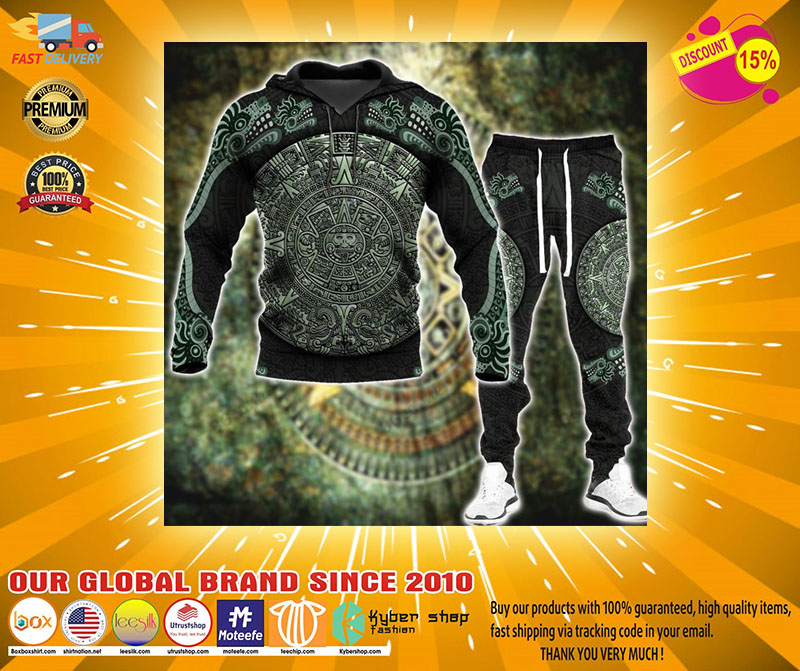 Aztec jungle 3D hoodie and sweatpant4