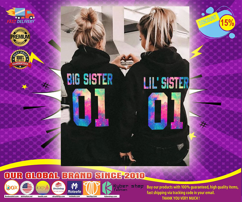 Big and little sister 3D hoodie custom name and number2