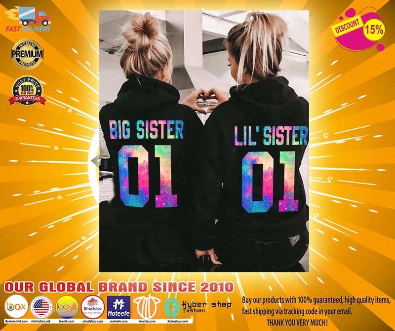 Big and little sister 3D hoodie custom name and number4