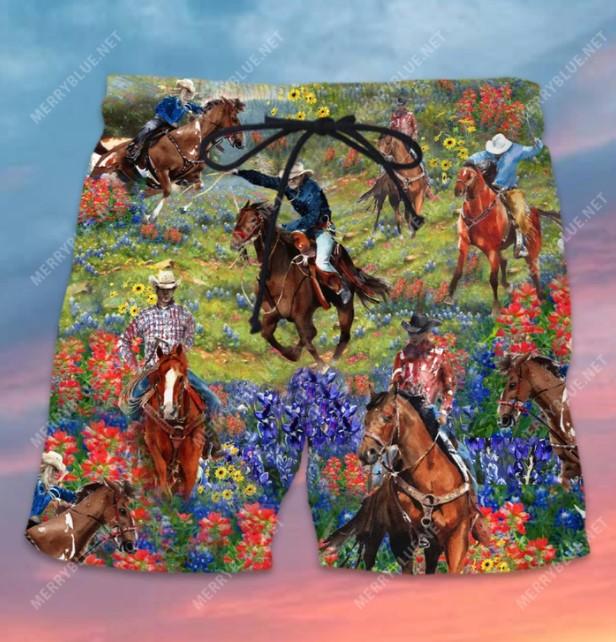 Bluebonnet and texas cowboy hawaiian shirt4