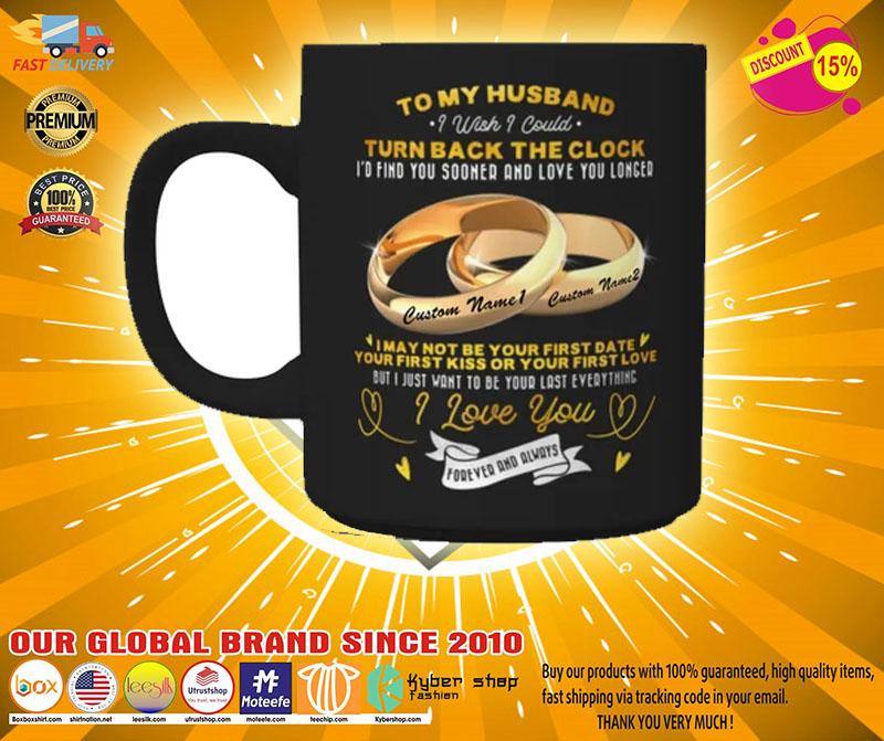 Couplerings To my husband turn back the clock I love you custom name mug2