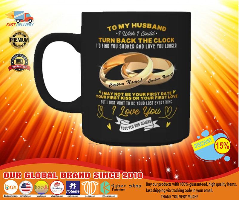 Couplerings To my husband turn back the clock I love you custom name mug3