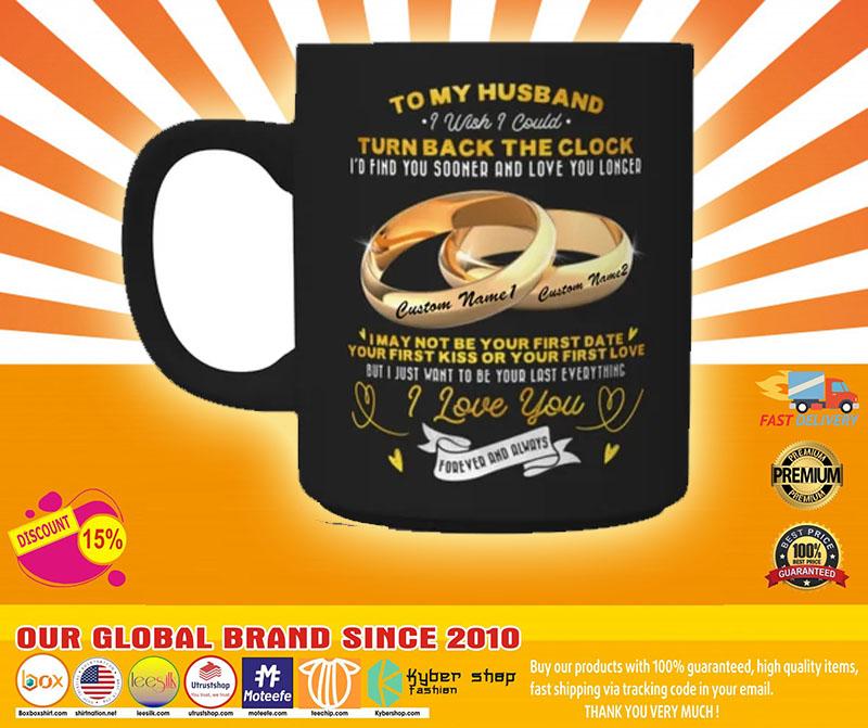 Couplerings To my husband turn back the clock I love you custom name mug4