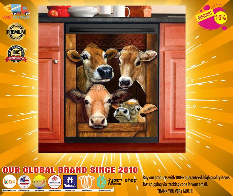 Cow decor kitchen dishwasher2