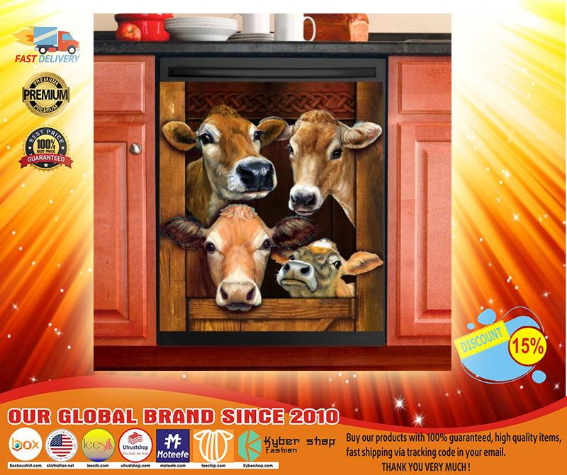 Cow decor kitchen dishwasher3