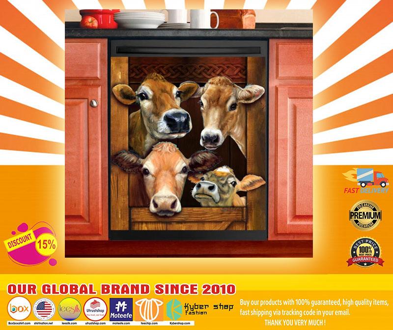 Cow decor kitchen dishwasher4