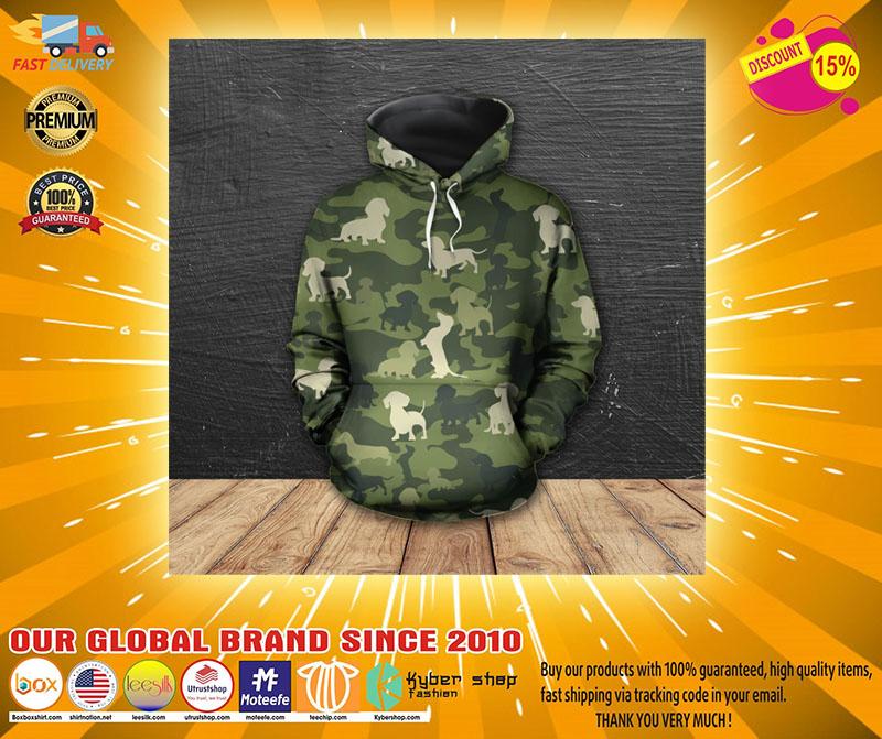 Dachshund camo 3D hoodie shirt2