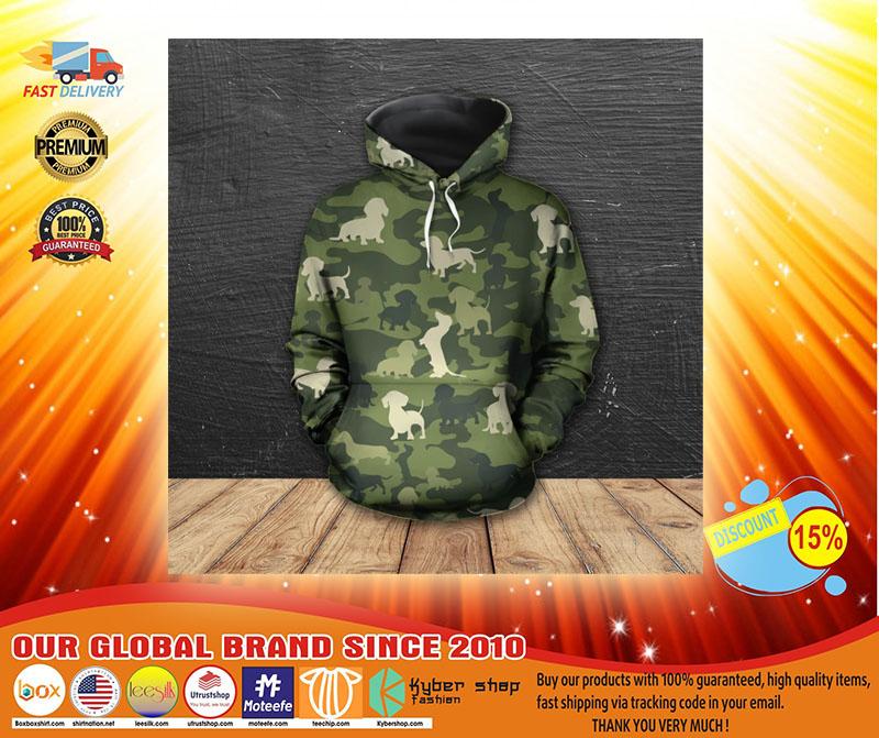 Dachshund camo 3D hoodie shirt3