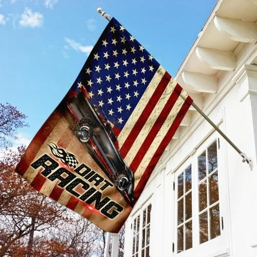 Dirt racing american flag2