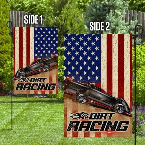 Dirt racing american flag4
