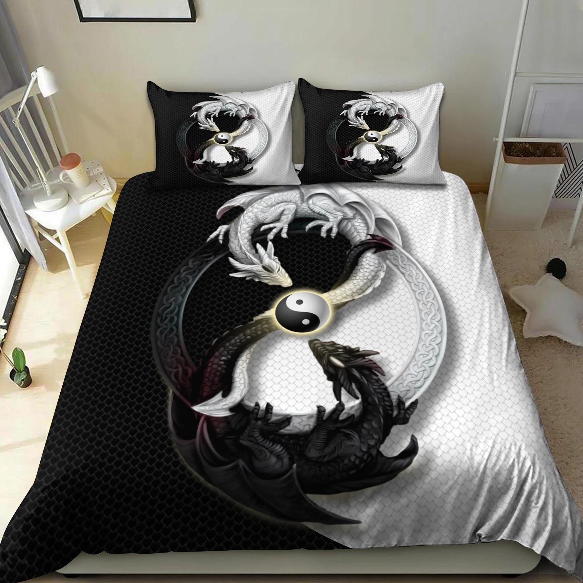 Dragon yin and yang bedding set2