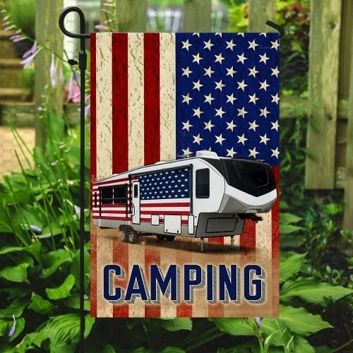 Fifth wheel camper American flag3