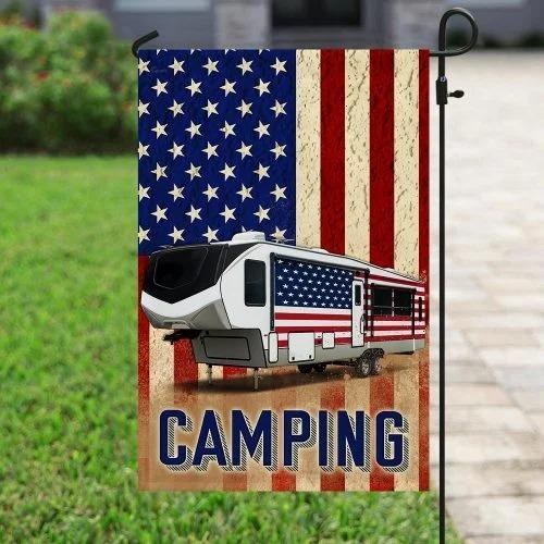Fifth wheel camper American flag4