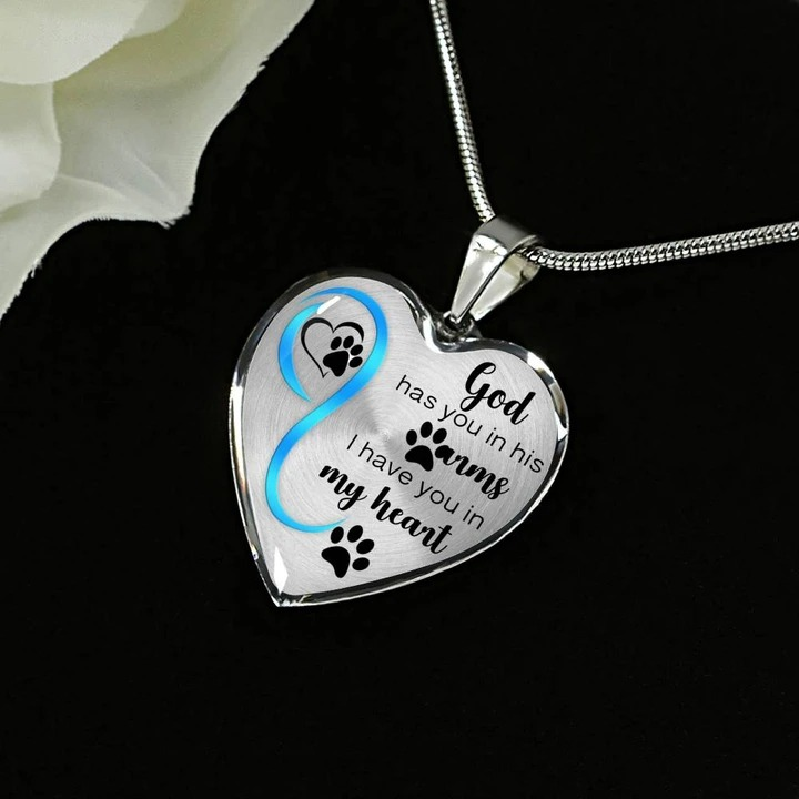 God has you in his arms I have you in my heart necklace2