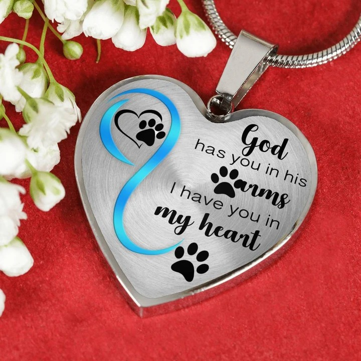 God has you in his arms I have you in my heart necklace3