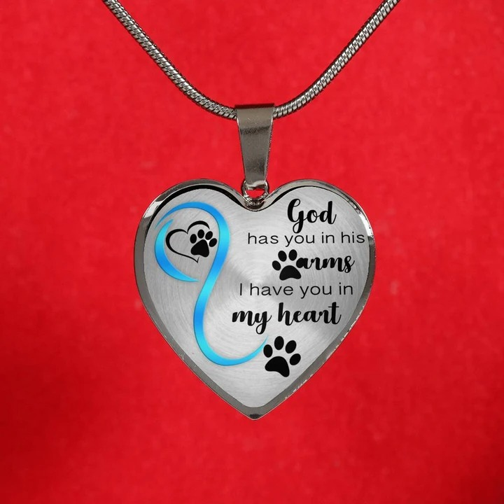 God has you in his arms I have you in my heart necklace4