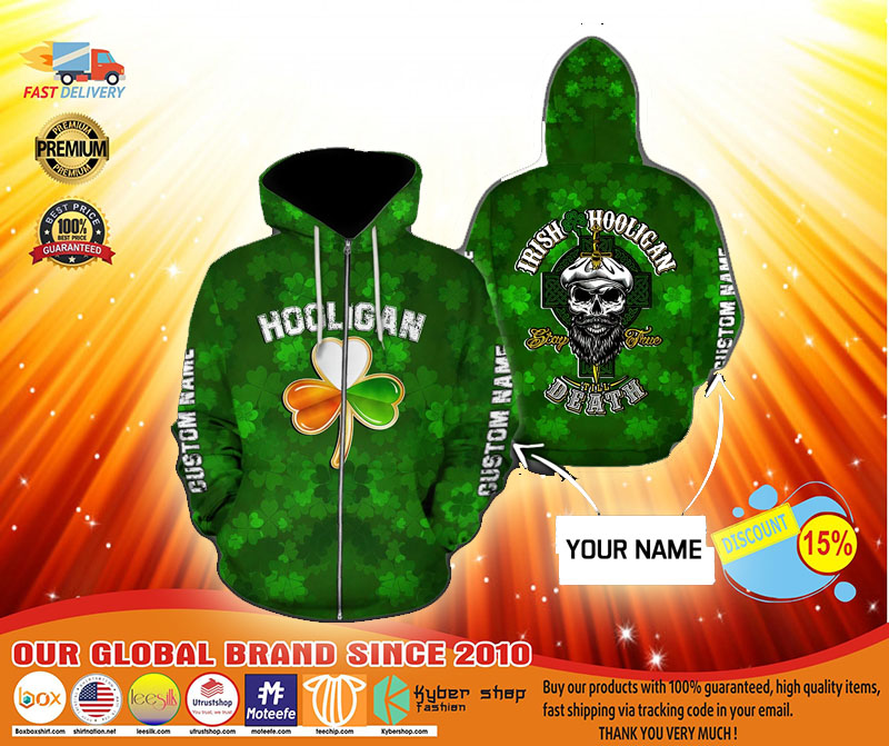 Hooligan Irish custom name 3D hoodie4