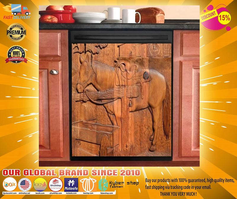 Horse decor kitchen dishwasher2