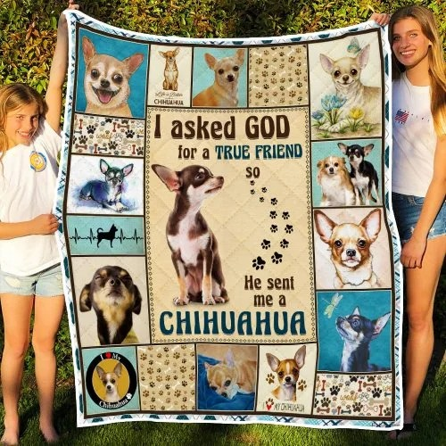 I ask God and he send me chihuahua bedding set3