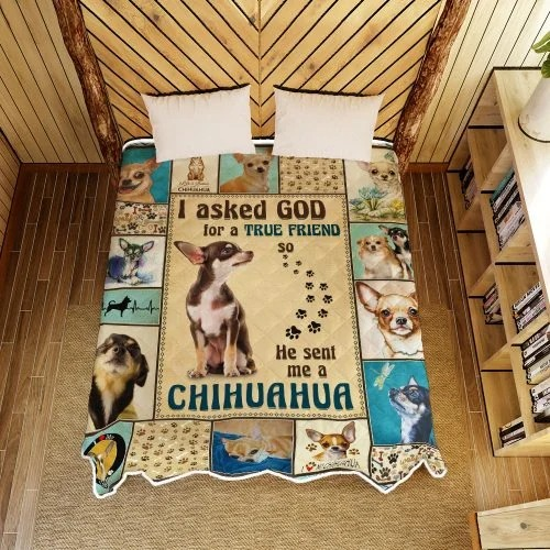 I ask God and he send me chihuahua bedding set4