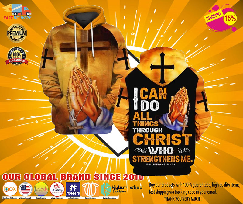 I can do all things through christ who strength me 3D hoodie2