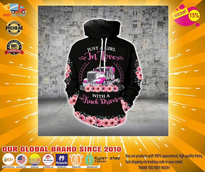 Just a girl in love with a truck driver 3D hoodie and legging2123123