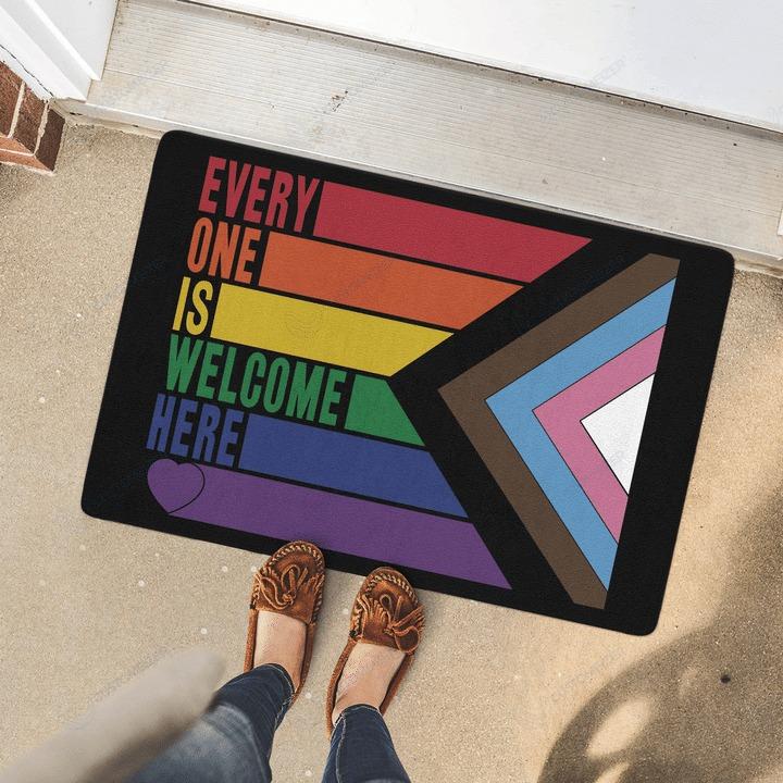 LGBT Everyone is welcome here doormat2