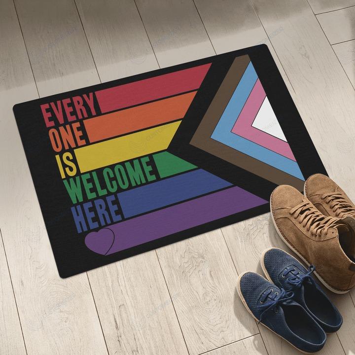 LGBT Everyone is welcome here doormat3