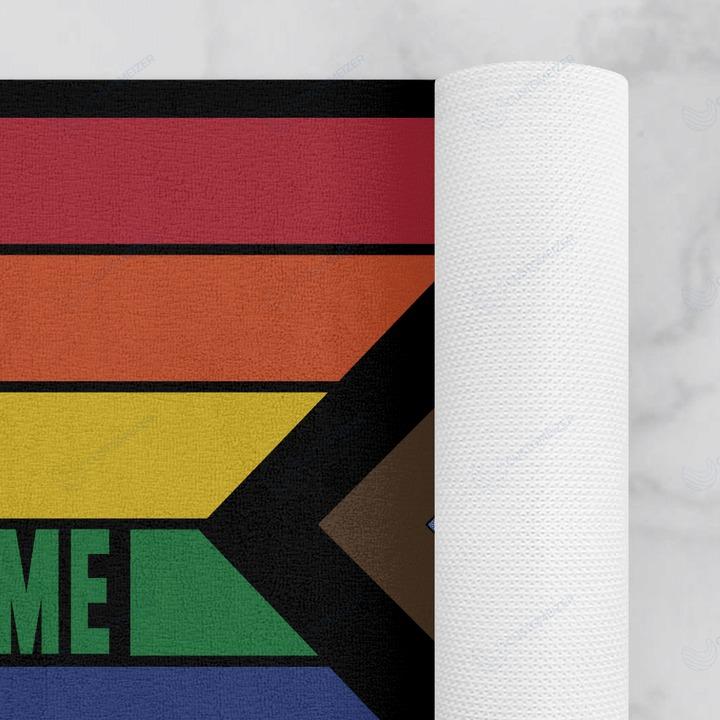 LGBT Everyone is welcome here doormat4
