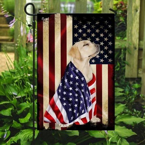 Labrador retriever American flag3