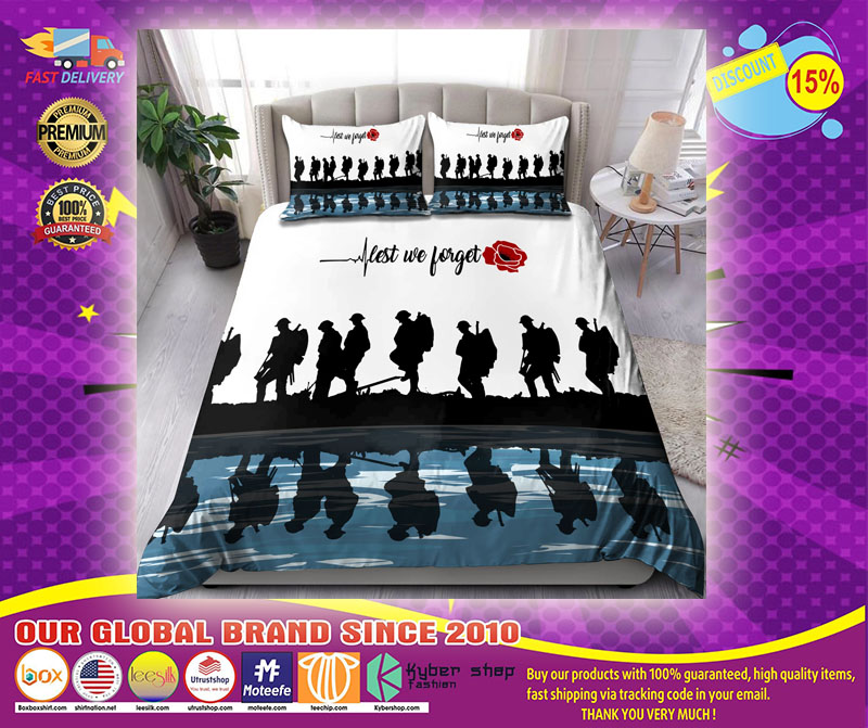Lest we forget Honor the fallen UK Veteran 3D bedding set12