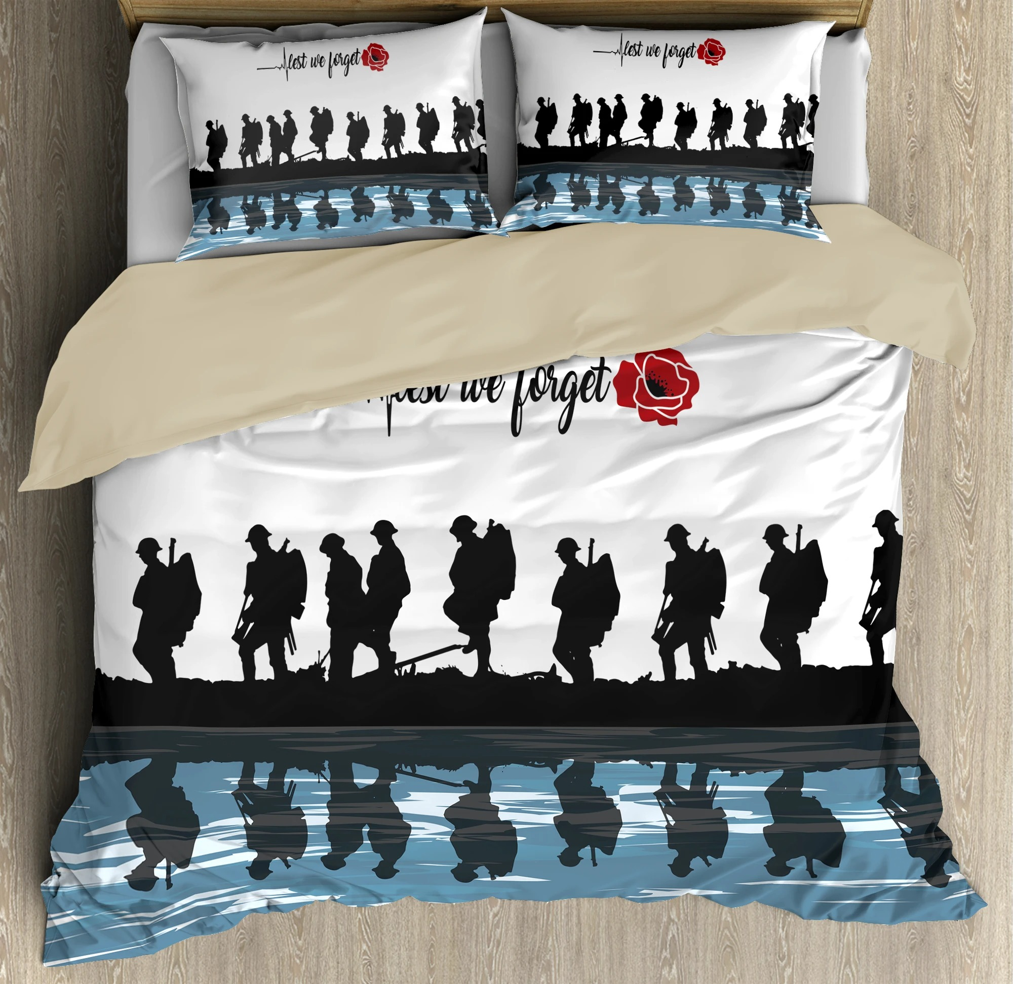 Lest we forget Honor the fallen UK Veteran 3D bedding set4
