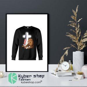 Lion God and Lamb American flag shirt12
