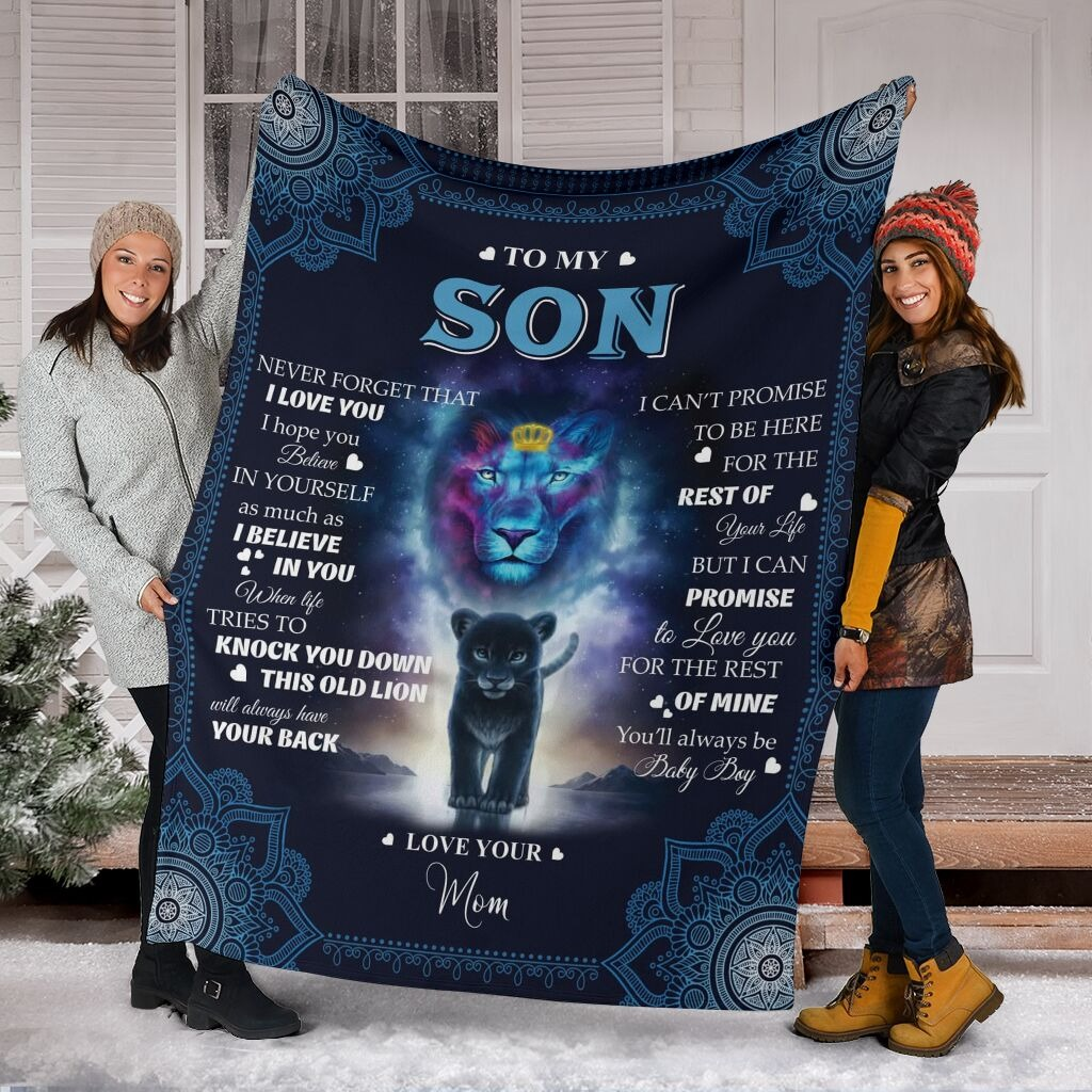 Lion to my son blanket4