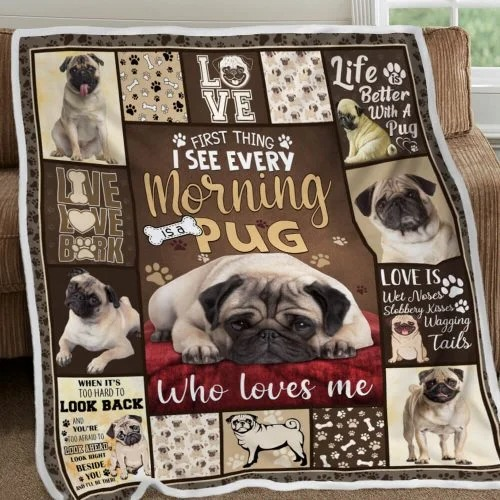 Love pug life better with a pug blanket3
