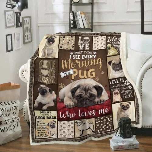 Love pug life better with a pug blanket4