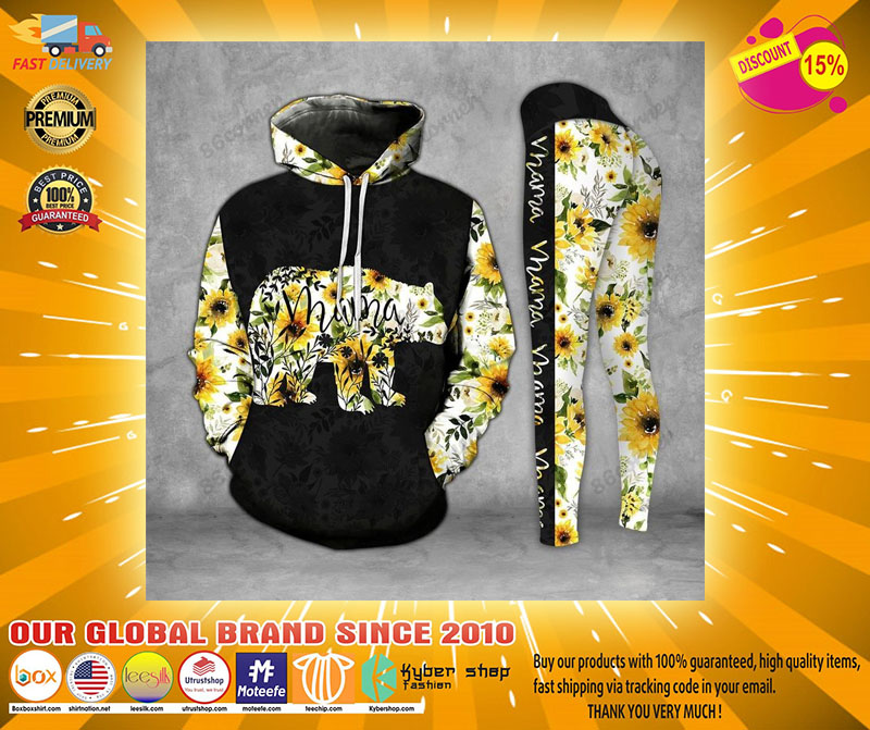 Mama bear Sunflower 3D hoodie and legging21