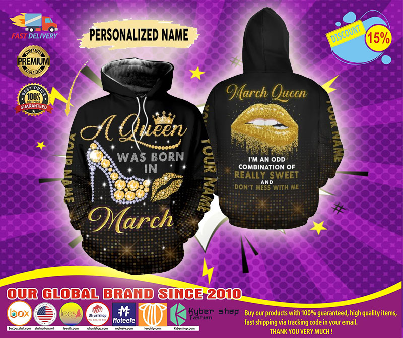 March queen custom name 3D hoodie and legging1