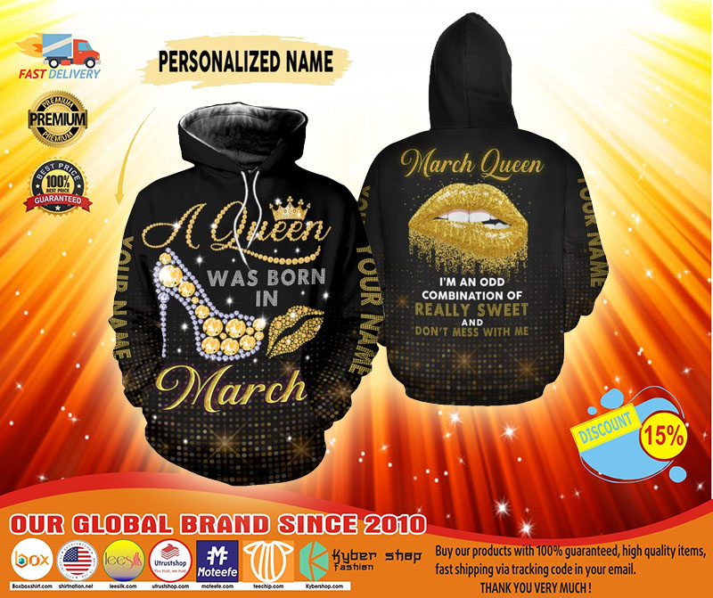 March queen custom name 3D hoodie and legging3