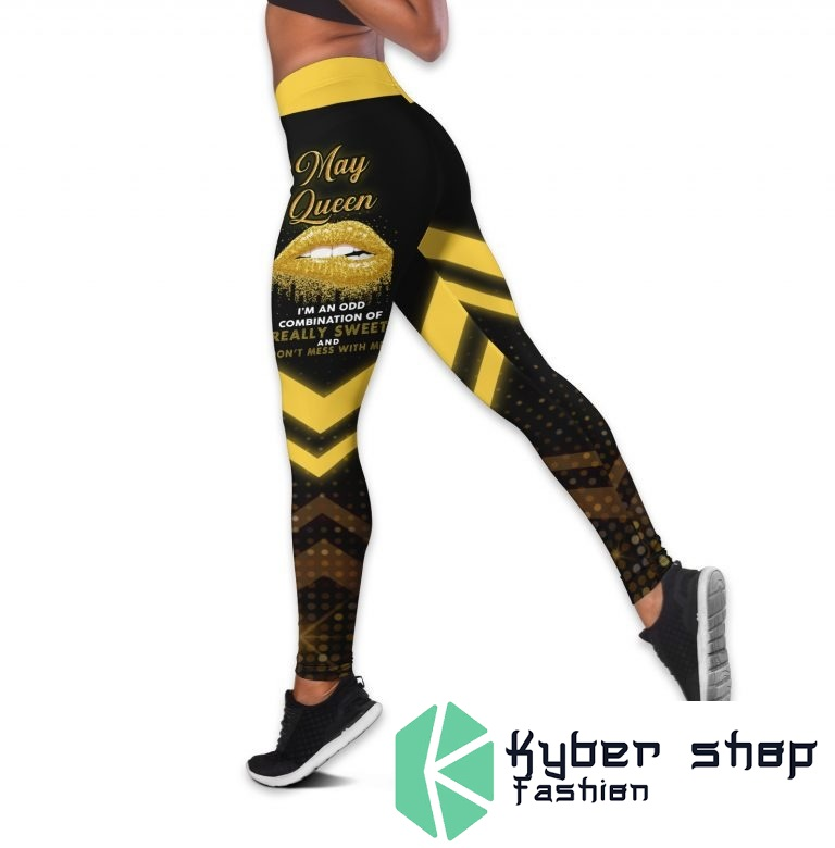 May queen really sweet and dont mess with me custom name 3D hoodie and legging2